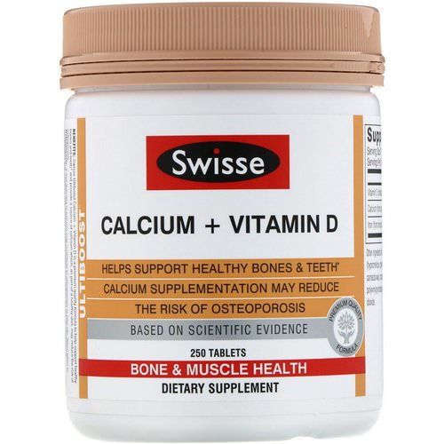 Swisse, Ultiboost, Calcium + Vitamin D, 250 Tablets Review