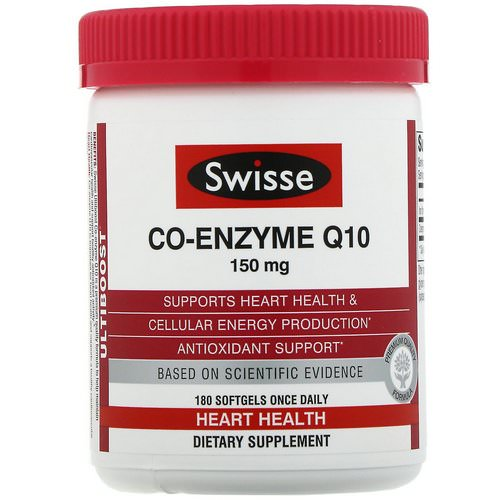 Swisse, Ultiboost, Co-Enzyme Q10, 150 mg, 180 Softgels Review
