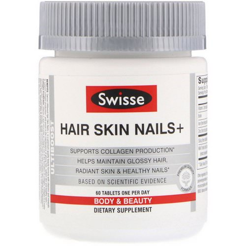 Swisse, Ultiboost, Hair Skin Nails+, 60 Tablets Review