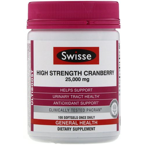 Swisse, Ultiboost, High Strength Cranberry, 25,000 mg, 100 Softgels Review
