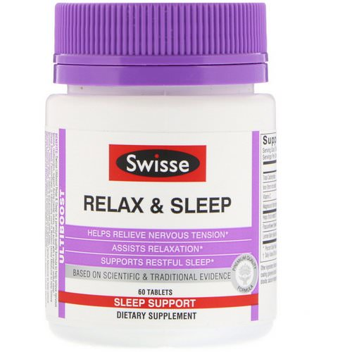 Swisse, Ultiboost, Relax & Sleep, 60 Tablets Review