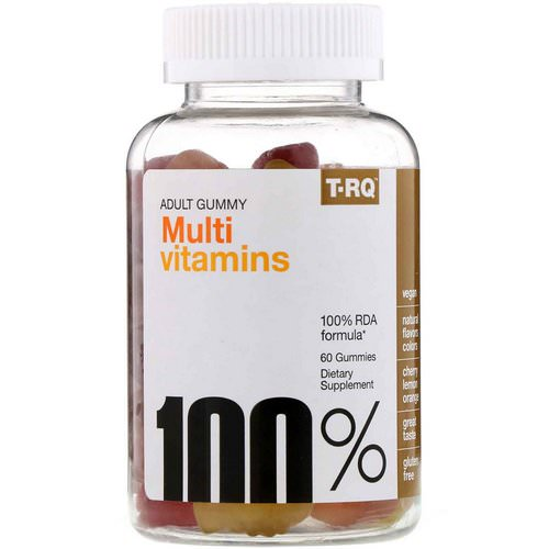 T-RQ, Adult Gummy, Multi Vitamins, Cherry Lemon Orange, 60 Gummies Review