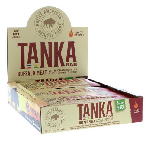 Tanka, Bar, Buffalo Meat with Cranberries and Pepper Blend, Spicy Pepper, 12 Bars, 1 oz (28.4 g) Each Review