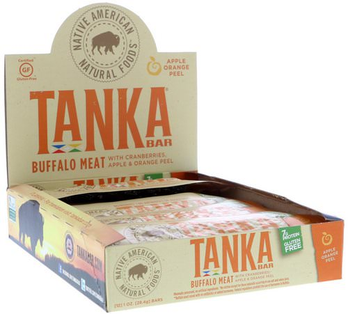 Tanka, Bar, Buffalo Meat with Cranberries, Apple & Orange Peel, 12 Bars, 1 oz (28.4 g) Each Review
