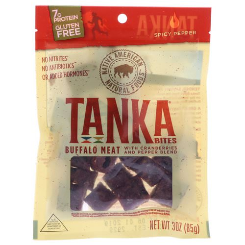 Tanka, Bites, Buffalo Meat with Cranberries and Pepper Blend, Spicy Pepper, 30 oz (85 g) Review