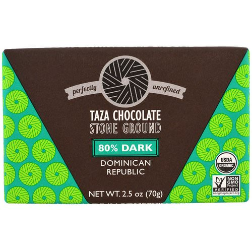 Taza Chocolate, Organic, 80% Dark Stone Ground Chocolate Bar, Dominican Republic, 2.5 oz (70 g) Review