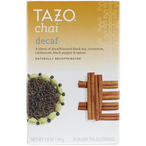 Tazo Teas, Decaf Chai, Naturally Decaffeinated, Black Tea, 20 Filterbags, 1.9 oz (54 g) Review