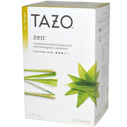 Tazo Teas, Zen, Green Tea, 20 Filterbags, 1.5 oz (43 g) Review