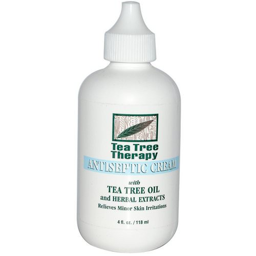 Tea Tree Therapy, Antiseptic Cream, with Tea Tree Oil and Herbal Extracts, 4 fl oz (118 ml) Review