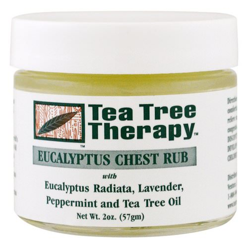 Tea Tree Therapy, Eucalyptus Chest Rub, 2 oz (57 g) Review