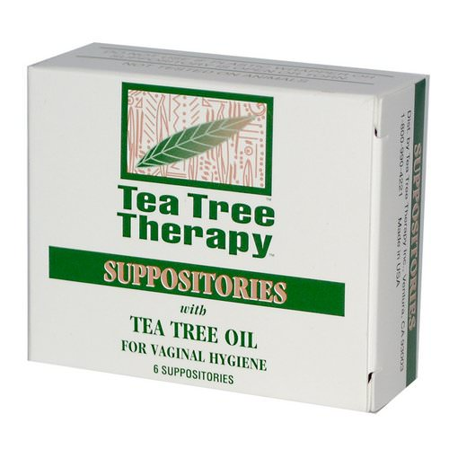 Tea Tree Therapy, Suppositories, with Tea Tree Oil, for Vaginal Hygiene, 6 Suppositories Review