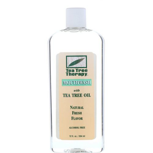 Tea Tree Therapy, Tea Tree Oil Mouthwash, Natural Fresh Flavor, 12 fl oz (354 ml) Review
