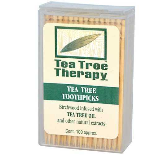 Tea Tree Therapy, Tea Tree TherapyToothpicks, Mint, 100 Approx. Review