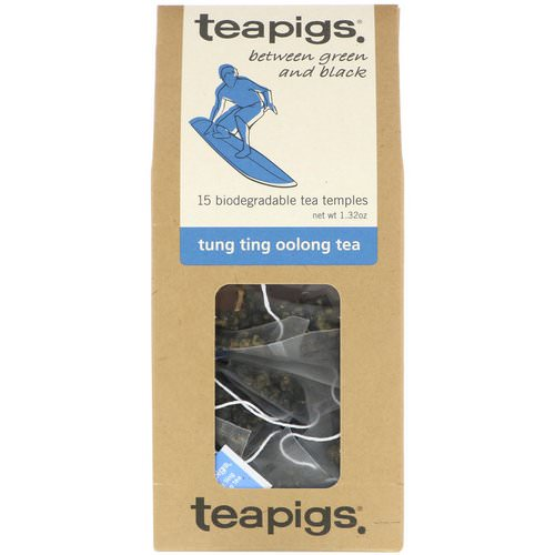 TeaPigs, Between Green and Black, Tung Ting Oolong Tea, 15 Tea Temples, 1.32 oz Review