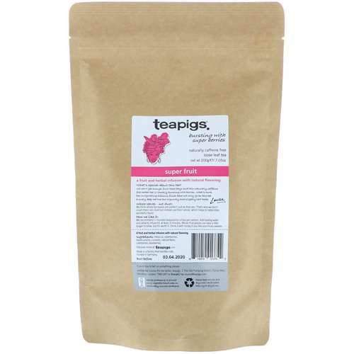 TeaPigs, Bursting with Super Berries, Super Fruit, Loose Leaf Tea, Caffeine Free, 7.05 oz (200 g) Review