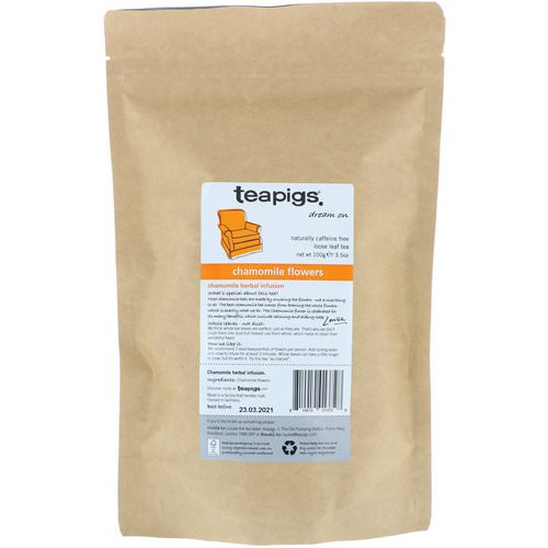 TeaPigs, Dream On, Chamomile Flowers, Loose Leaf Tea, Caffeine Free, 3.5 oz (100 g) Review