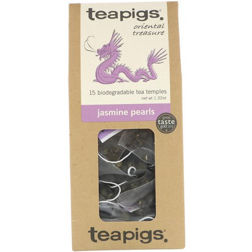 TeaPigs, Oriental Treasure, Jasmine Pearls, 15 Tea Temples, 1.32 oz Review
