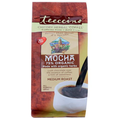 Teeccino, Chicory Herbal Coffee, Mocha, Medium Roast Coffee, Caffeine Free, 11 oz (312 g) Review