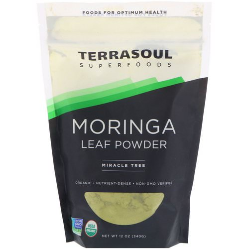Terrasoul Superfoods, Moringa Leaf Powder, Miracle Tree, 12 oz (340 g) Review
