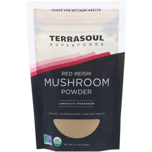 Terrasoul Superfoods, Red Reishi Mushroom Powder, 5.5 oz (156 g) Review