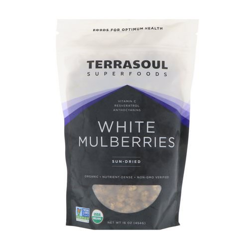 Terrasoul Superfoods, White Mulberries, Sun-Dried, 16 oz (454 g) Review