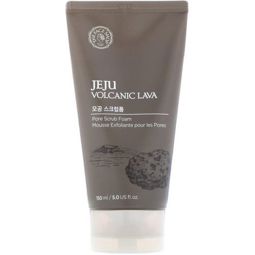 The Face Shop, Jeju Volcanic Lava, Pore Scrub Foam, 5 fl oz (150 ml) Review
