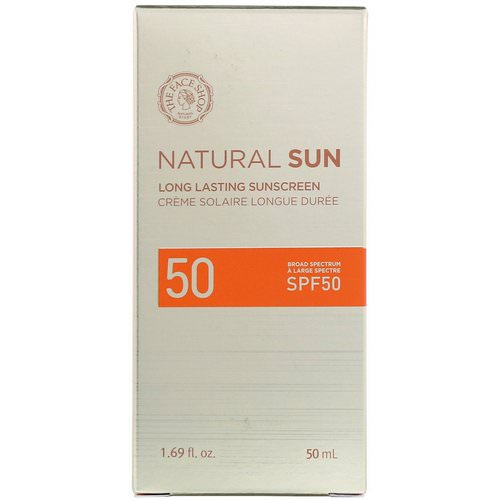 The Face Shop, Natural Sun, Long Lasting Sunscreen, SPF 50, 1.69 fl oz (50 ml) Review