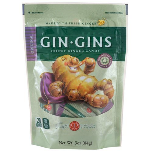 The Ginger People, Gin·Gins, Chewy Ginger Candy, Original, 3 oz (84 g) Review