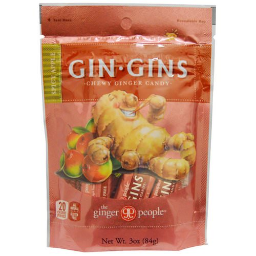 The Ginger People, Gin·Gins, Chewy Ginger Candy, Spicy Apple, 3 oz (84 g) Review