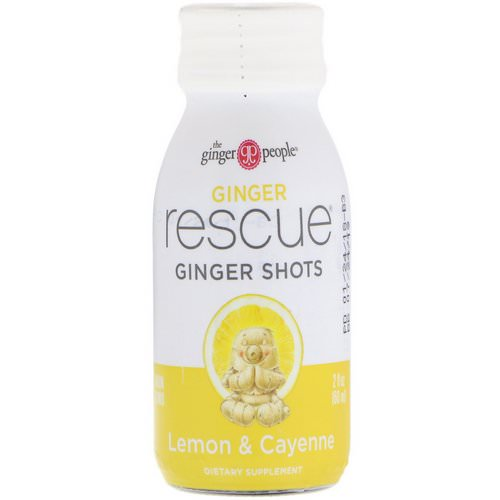 The Ginger People, Ginger Rescue Shots, Lemon & Cayenne, 2 fl oz (60 ml) Review