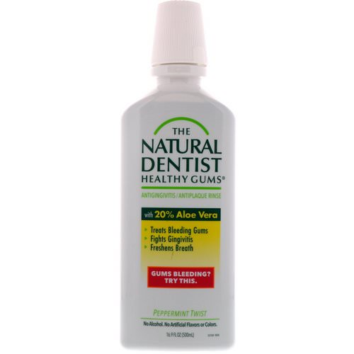 The Natural Dentist, Healthy Gums, Antigingivitis / Antiplaque Rinse, Peppermint Twist, 16.9 fl oz (500 ml) Review