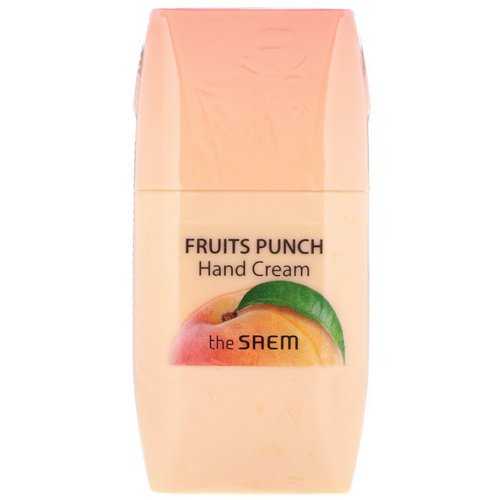The Saem, Fruits Punch Hand Cream, Peach, 1.69 fl oz (50 ml) Review