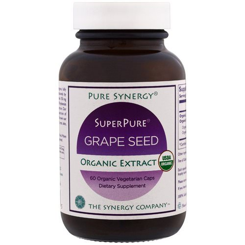 The Synergy Company, Pure Synergy, Organic Super Pure Grape Seed Organic Extract, 60 Organic Vegetarian Caps Review