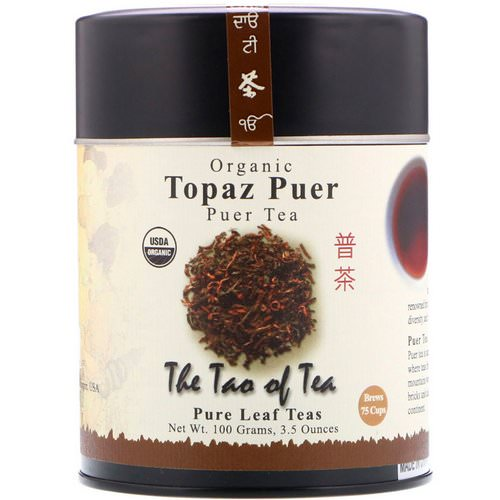 The Tao of Tea, Organic Puer Tea, Topaz Puer, 3.5 oz (100 g) Review