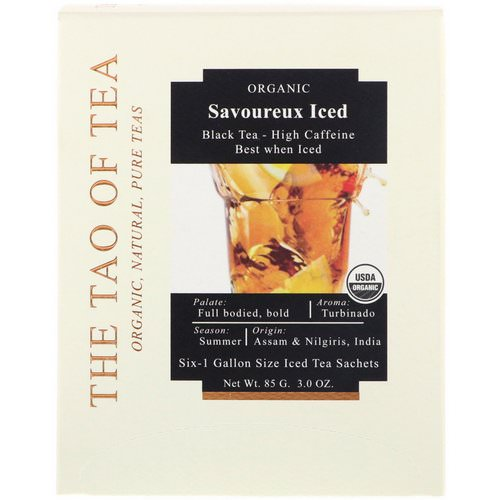 The Tao of Tea, Savoureux Iced Tea, Black Tea, 6 -1 Gallon Sized Sachets, 3.0 oz (85 g) Review
