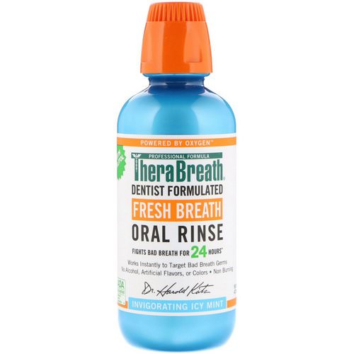 TheraBreath, Fresh Breath Oral Rinse, Invigorating Icy Mint Flavor, 16 fl oz (473 ml) Review