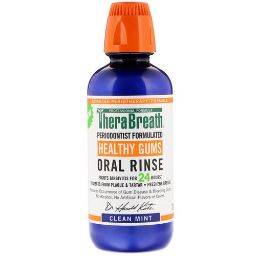 TheraBreath, Healthy Gums Oral Rinse, Clean Mint Flavor, 16 fl oz (473 ml) Review