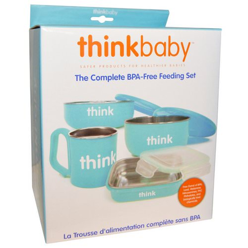Think, Thinkbaby, The Complete BPA-Free Feeding Set, Light Blue, 1 Set Review
