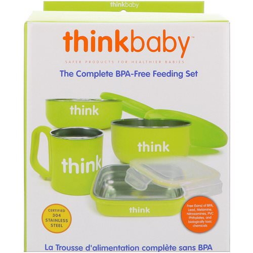 Think, Thinkbaby, The Complete BPA-Free Feeding Set, Light Green, 1 Set Review