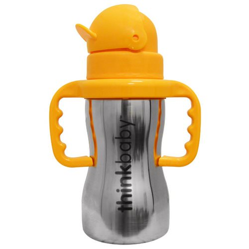Think, Thinkbaby, Thinkster of Steel Bottle, Orange, 1 Straw Bottle, 10 oz (290 ml) Review