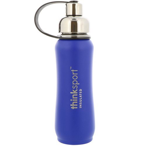 Think, Thinksport, Insulated Sports Bottle, Blue, 17 oz (500 ml) Review