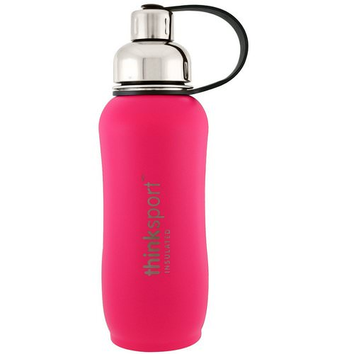 Think, Thinksport, Insulated Sports Bottle, Dark Pink, 25 oz (750 ml) Review