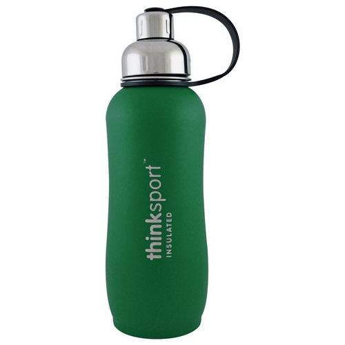 Think, Thinksport, Insulated Sports Bottle, Green, 25 oz (750ml) Review