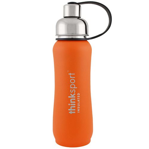 Think, Thinksport, Insulated Sports Bottle, Orange, 17 oz (500ml) Review
