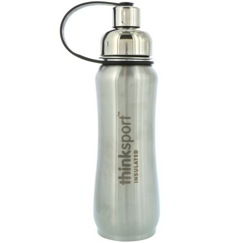 Think, Thinksport, Insulated Sports Bottle, Silver, 17 oz (500ml) Review