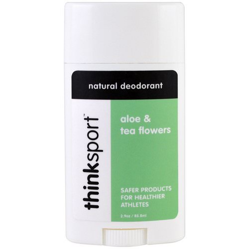 Think, Thinksport, Natural Deodorant, Aloe & Tea Flowers, 2.9 oz (85.8 ml) Review