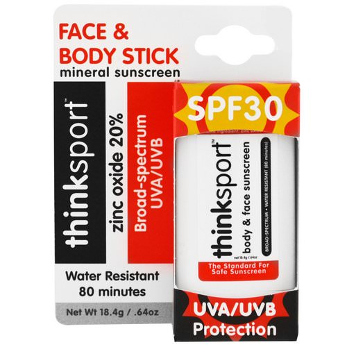 Think, Thinksport, Sunscreen Stick, SPF 30, 0.64 oz (18.4 g) Review