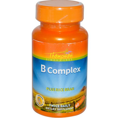 Thompson, B Complex, Plus Rice Bran, 60 Tablets Review