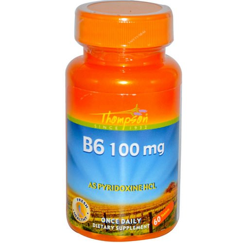 Thompson, B6, 100 mg, 60 Tablets Review