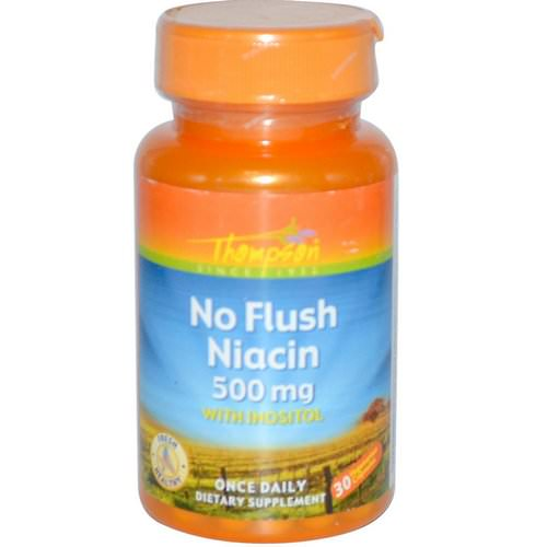 Thompson, No Flush Niacin, 500 mg, 30 Veggie Caps Review
